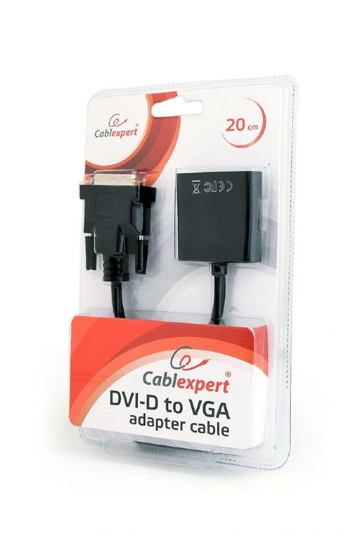 Gembird AB-DVID-VGAF-01 DVI-D to VGA adapter cable blister Black